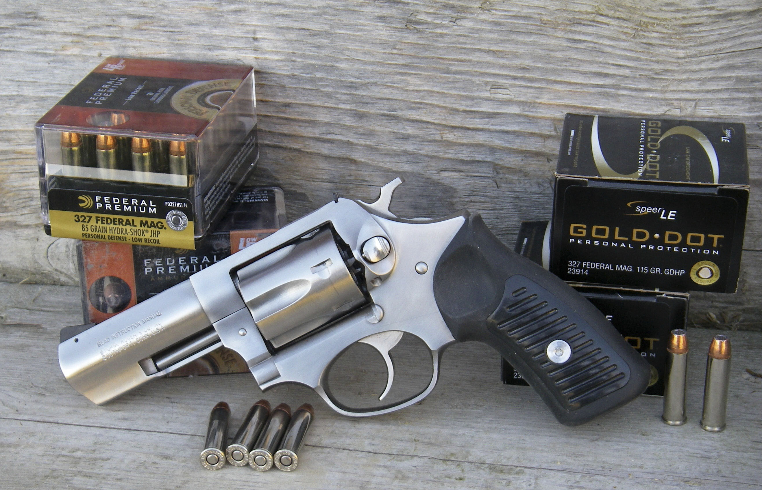 The .327 Federal Magnum was introduced in a Ruger SP101 six-shot revolver.